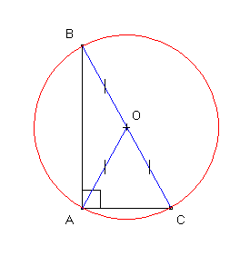 dessin: triangle rectangle et cercle circonscrit (1)